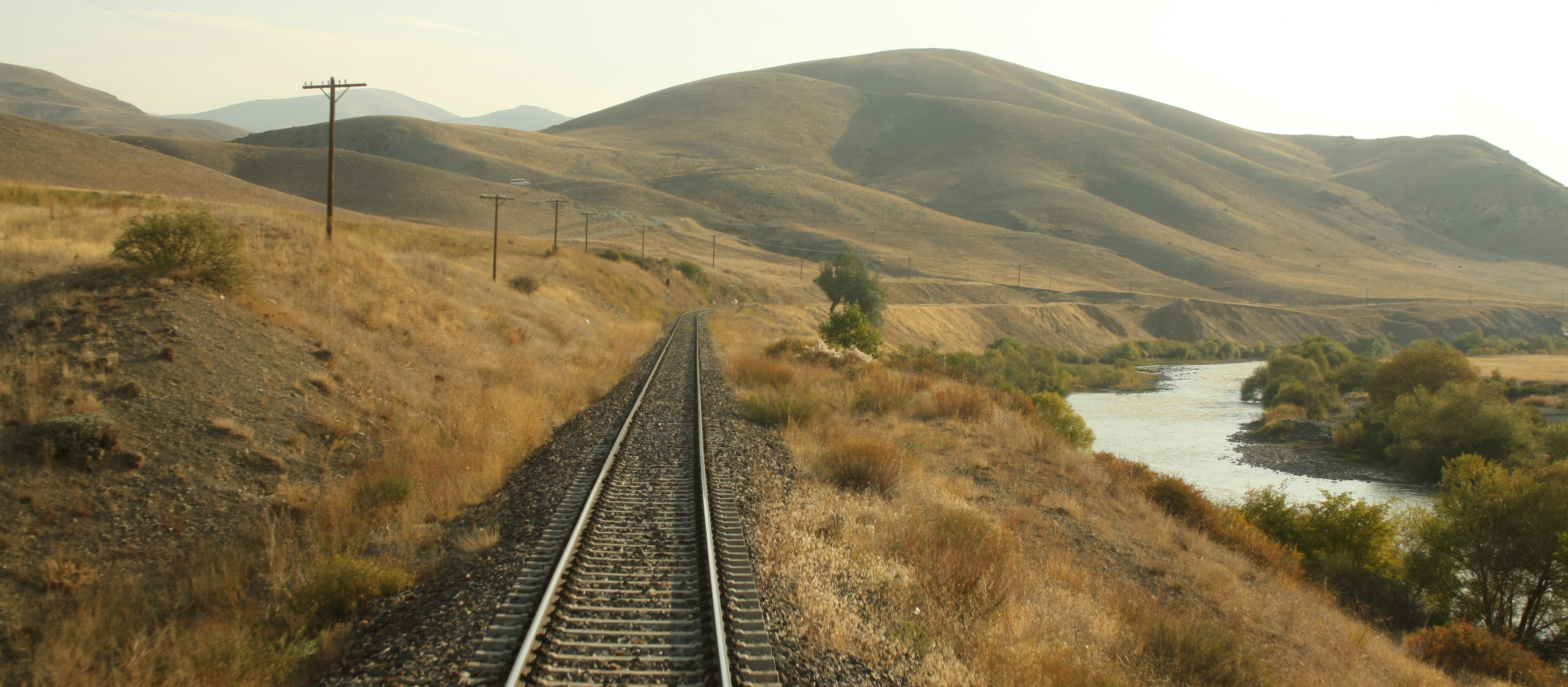 Train line through East Anatolia